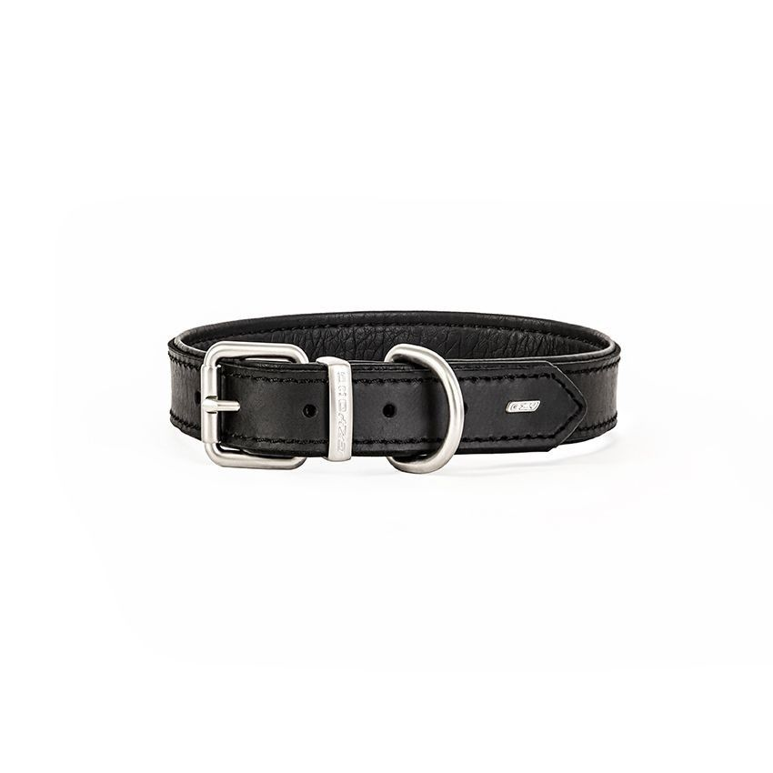 EzyDog Leather Collar - Black